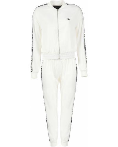 Костюмный белый спортивный костюм Philipp Plein