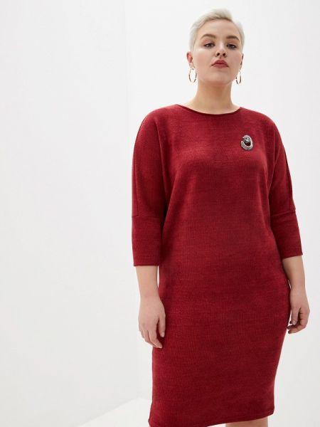 Бордовое повседневное платье Louitex