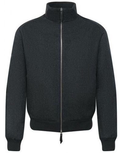 Кожаная куртка из полиэстера - зеленая Andrea Campagna