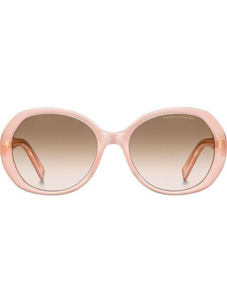 Прямые муслиновые розовые солнцезащитные очки круглые Marc Jacobs Eyewear