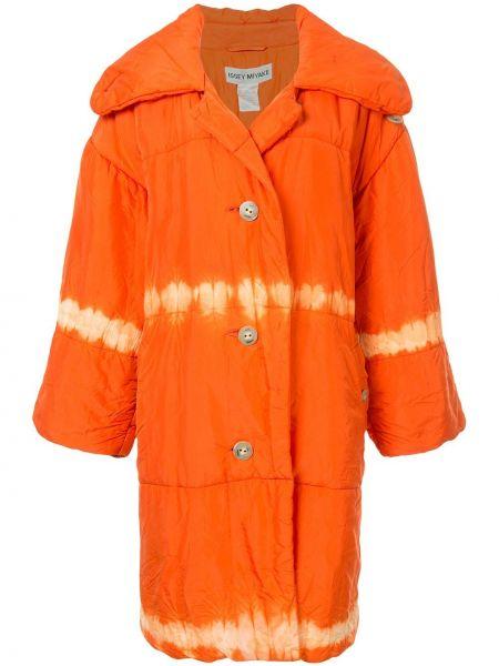 Нейлоновое свободное дутое пальто с воротником на пуговицах Issey Miyake Pre-owned