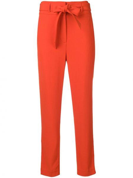 Красные брюки с завязками с карманами с высокой посадкой Veronica Beard