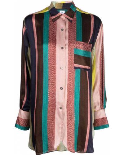 Розовая рубашка с принтом Ps Paul Smith