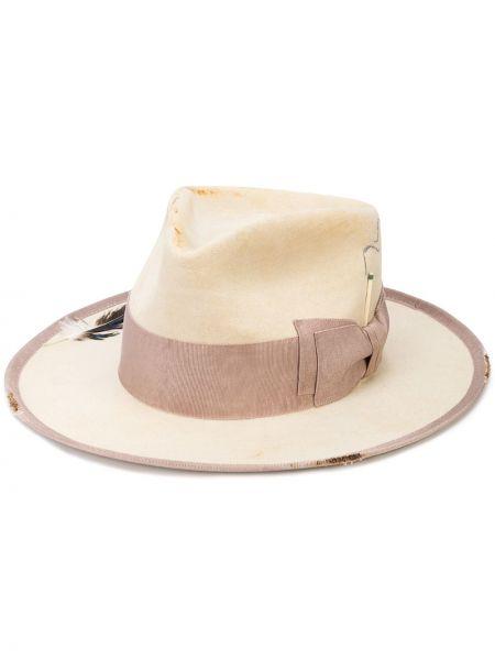 Кожаная шляпа-федора свободного кроя Nick Fouquet