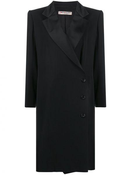 Długi płaszcz wełniany zapinane na guziki Yves Saint Laurent Pre-owned