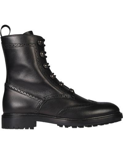Кожаные ботинки - черные Christian Dior