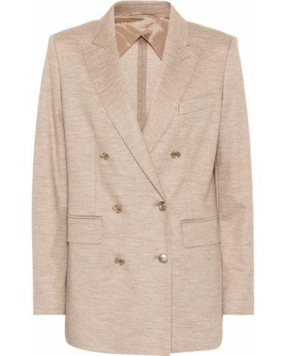 Пиджак бежевый шерстяной Max Mara