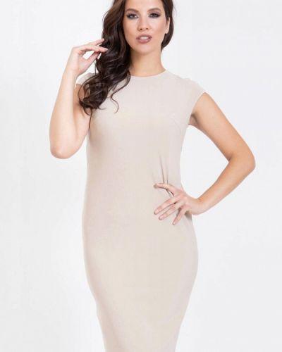 Бежевое повседневное платье Prima Linea