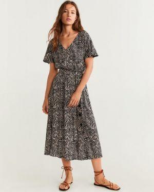 Платье мини серое миди Mango