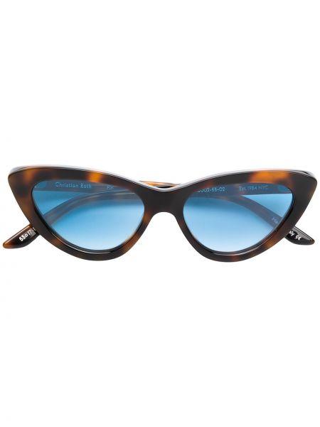 Муслиновые солнцезащитные очки хаки Christian Roth