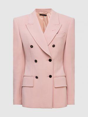 Шерстяной розовый пиджак Tom Ford