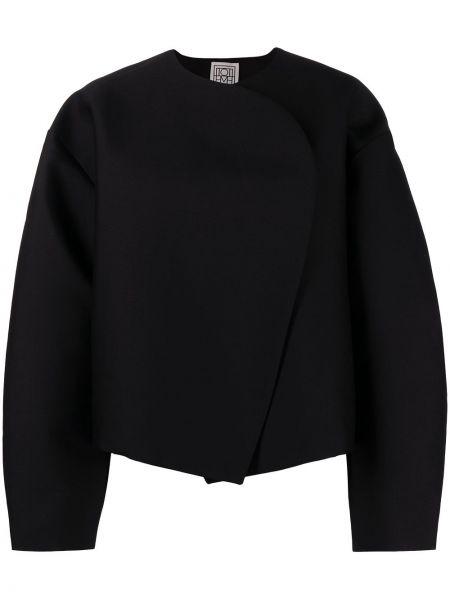 Черный удлиненный пиджак Toteme