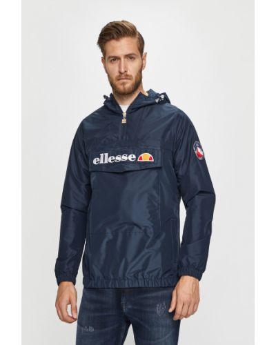 Куртка с капюшоном укороченная темно-синяя Ellesse