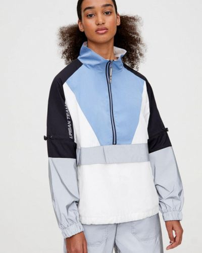 Утепленная куртка осенняя синий Pull&bear