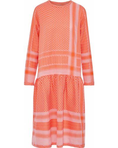 Хлопковое платье миди - оранжевое Cecilie Copenhagen