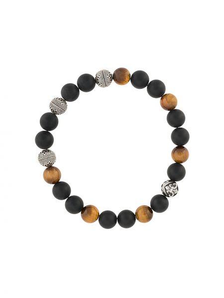 С ониксом браслет в бусинах Nialaya Jewelry