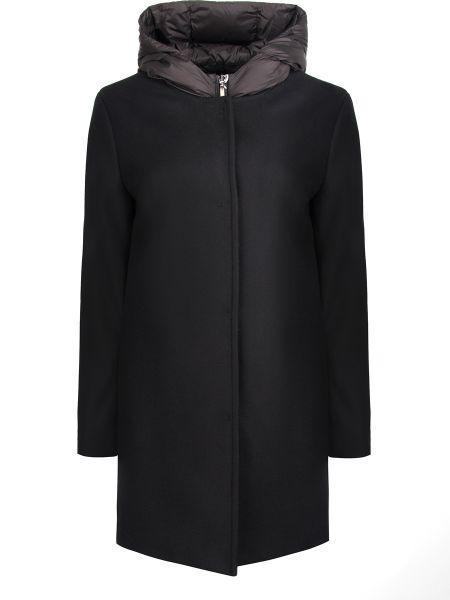 С рукавами шерстяное пальто с капюшоном айвори с вырезом Jan Mayen