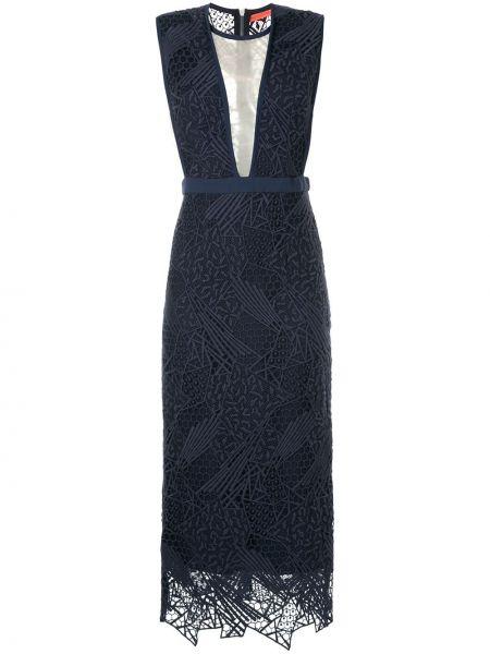 Синее нейлоновое платье Manning Cartell