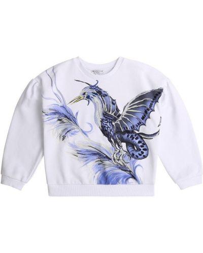 Bluza z długimi rękawami oversize z printem Givenchy