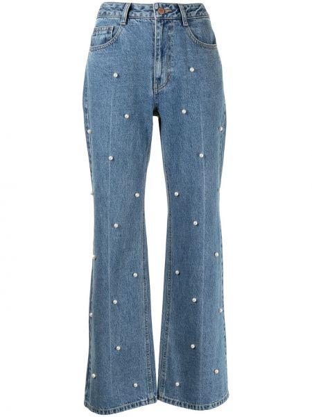 Прямые джинсы классические - синие Sjyp