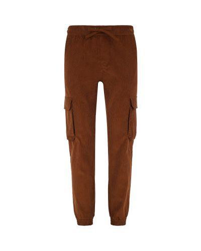 Хлопковые коричневые брюки карго свободного кроя Protest