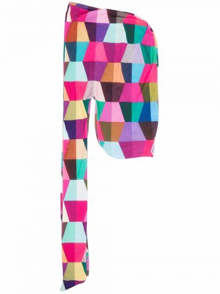 Różowy szalik z printem Formy Studio