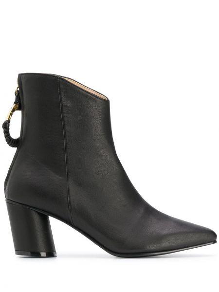 Черные ботинки на каблуке на молнии Reike Nen