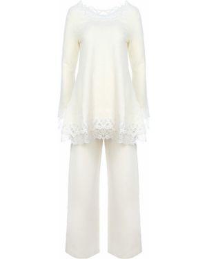 Белый костюмный домашний костюм свободного кроя с поясом Ermanno Scervino
