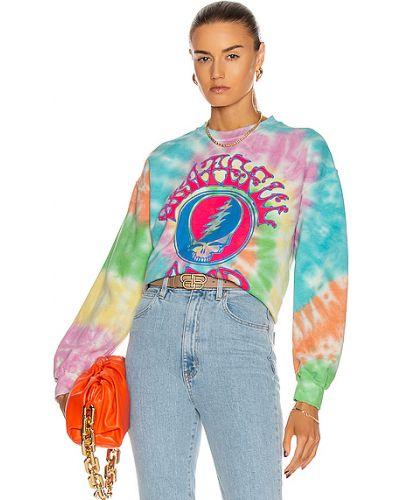 Różowa bluza dresowa bawełniana z printem Madeworn