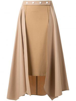 Прямая с завышенной талией юбка миди в рубчик на молнии Nehera