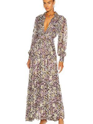 Платье макси на пуговицах - золотое Rococo Sand