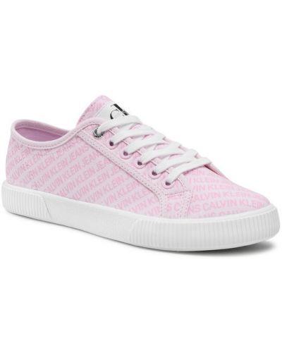 Różowe sneakersy Calvin Klein Jeans