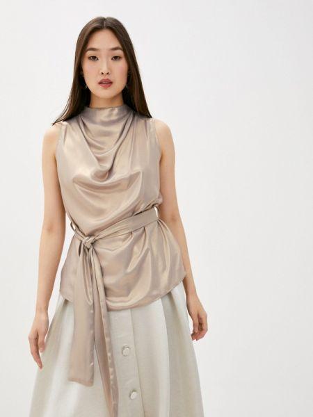 Серебряная блузка без рукавов Blugirl Folies