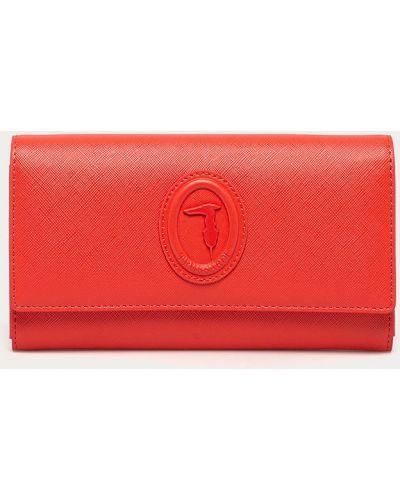 Czerwony portfel oversize Trussardi Jeans