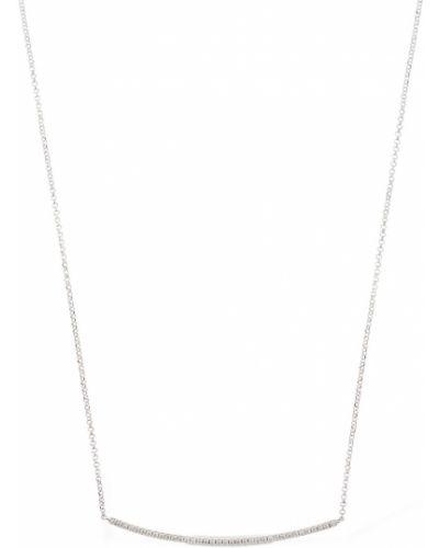 Biały naszyjnik srebrny Apm Monaco