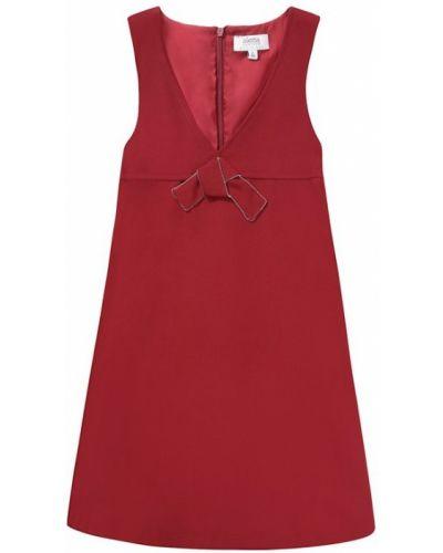 Платье бордовый с завышенной талией Aletta