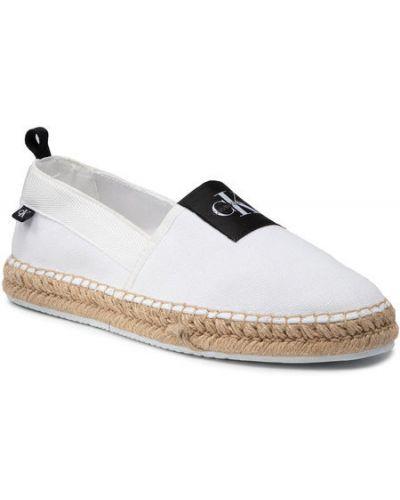 Białe espadryle Calvin Klein Jeans