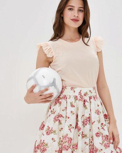 Блузка без рукавов весенний бежевый Irina Vladi