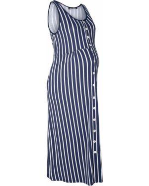 Платье для беременных макси в полоску Bonprix