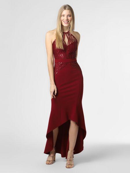 Czerwona sukienka wieczorowa Lipsy
