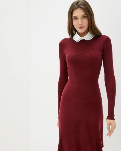 Платье бордовый вязаное Bluoltre