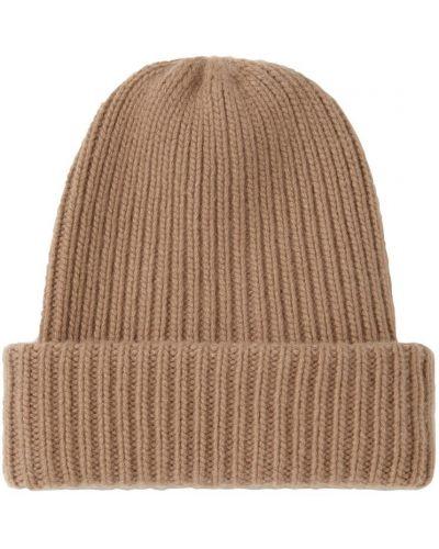 Коричневая кашемировая шапка бини Max Mara