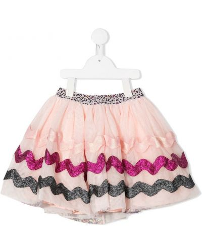 Różowa spódnica maxi z wiskozy z printem Billieblush