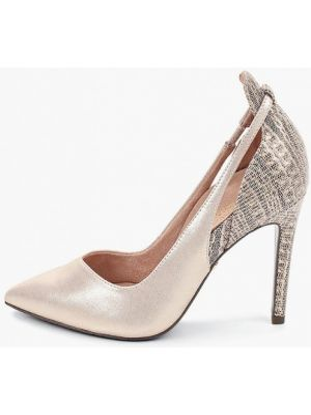 Кожаные туфли золотые из натуральной кожи Heart & Sole By Tamaris