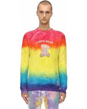 Ażurowy prążkowany sweter z haftem Klsh - Kids Love Stain Hands