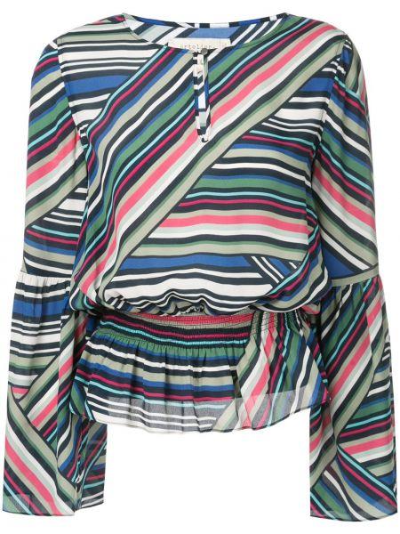 Блузка в полоску с поясом Nicole Miller