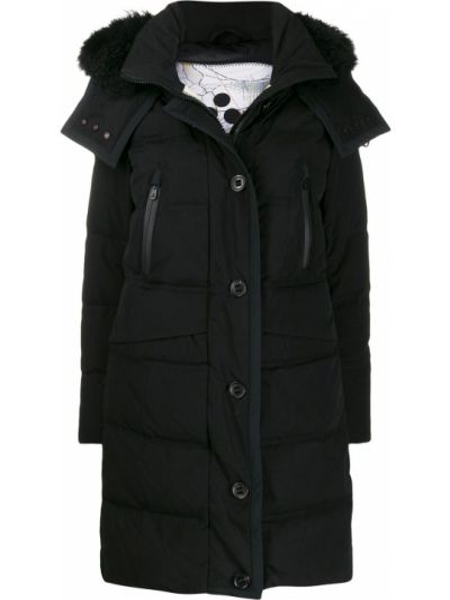Пальто с капюшоном длинное на кнопках Peuterey