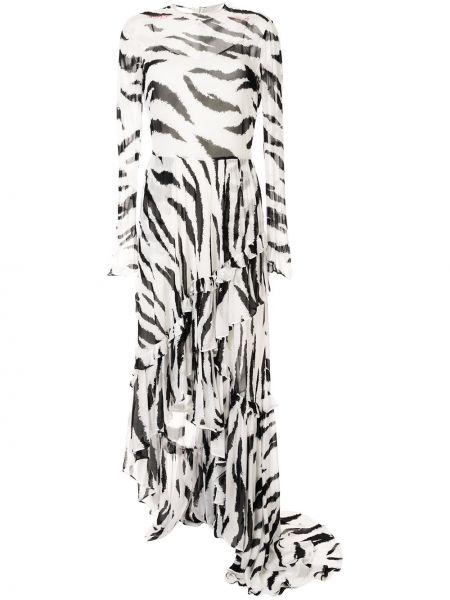 Платье макси с длинными рукавами с оборками Philosophy Di Lorenzo Serafini