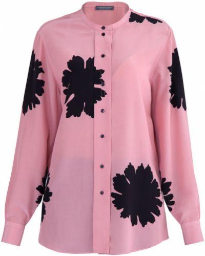 Блузка с цветочным принтом шелковая Alexander Mcqueen