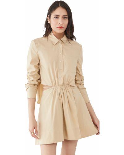 Платье макси с длинными рукавами с декольте стрейч Jonathan Simkhai